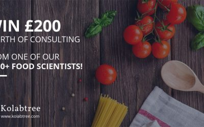 Win £200 worth of consulting from a professional food scientist on Kolabtree!